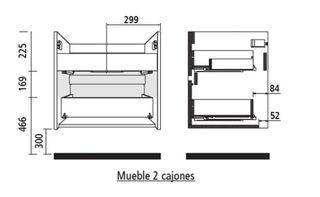 Mueble de roble caledonia y lavabo