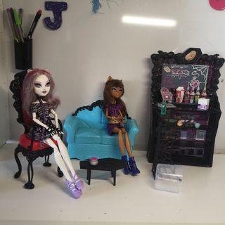 Cafetería Monster High + Muñecas + Accesorios