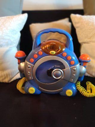 reproductor CD con microfonos