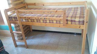 cama 90 para niño y armario 2 puertas