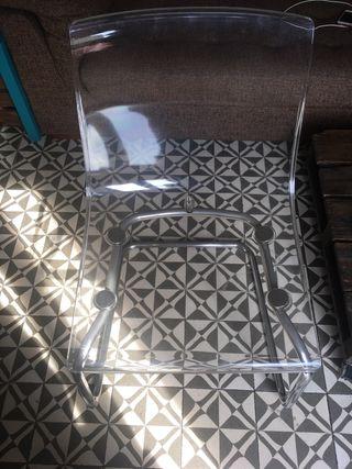 Silla Ikea transparente