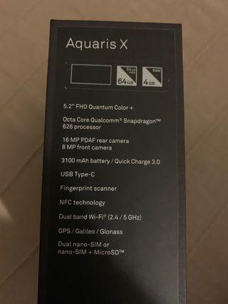 Vendo móvil bq aquaris x