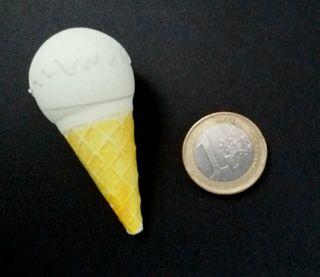 Goma de borrar helado años 80