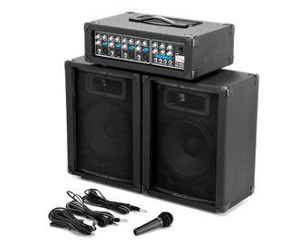 Equipo de sonido: Altavoces, Microfono, potencia