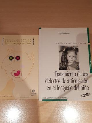 2 libros. Articulación en el lenguaje infantil
