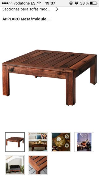 Para Mano Ikea Terraza De Wallapop Mesa Segunda En ZiPXuOk