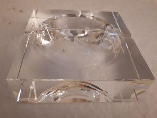 Cenicero cristal grueso