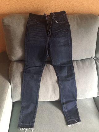 pantalon punto estampado zara wallapop