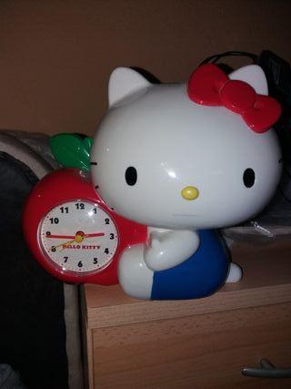 Reloj despertador hucha Hello Kittie