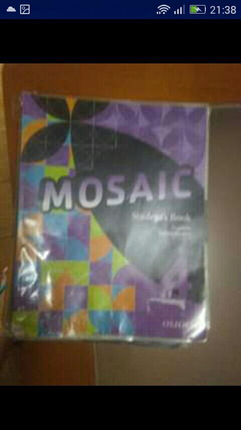 libro ingles mosaic 4 ESO