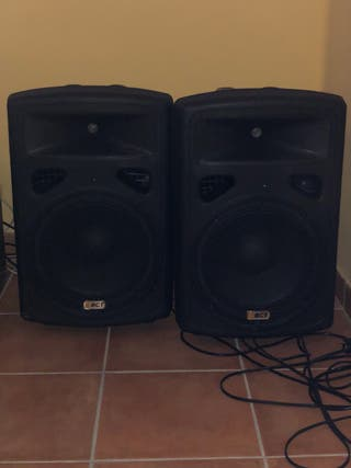 BCT Altavoces amplificados A112A 300 W