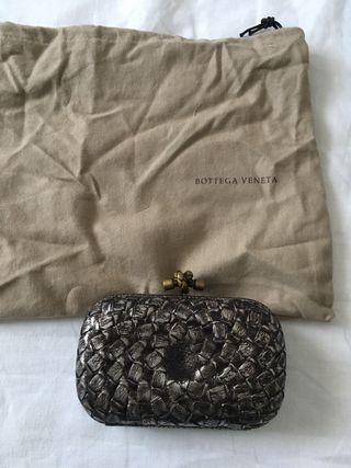 Bottega Veneta knot clutch piel peltro