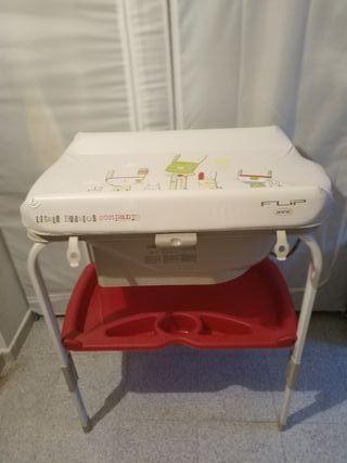 Bañera cambiador para bebé Jane