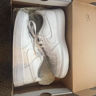 White Air Force 1 trainers size 6