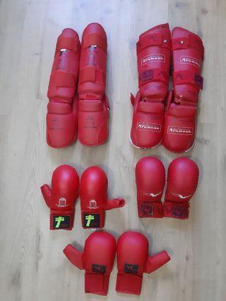 Protecciones karate homologadas