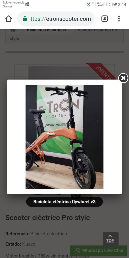 Scooter eléctrico Pro style