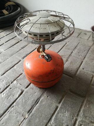 hornillo y bombona de gas