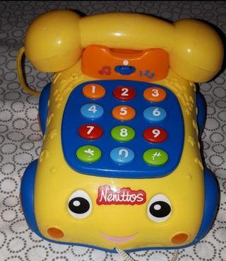 Teléfono juguete musical juguettos