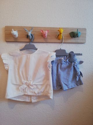 Conjunto niña de verano de Zara: blusa y pantalón
