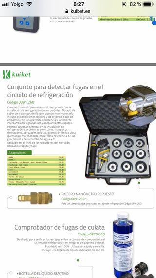 Detector fugas circuito refrigeracion