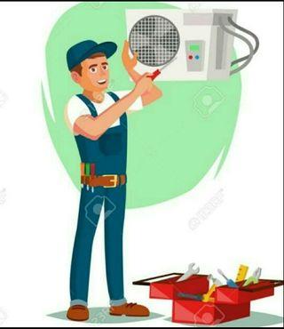 Monteje y reparacion de aires acondicionados