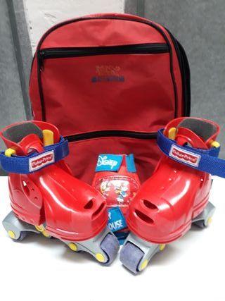 Patines infantiles con bolsa
