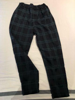 Pantalons fins de quadres