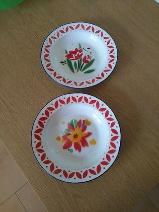 Platos porcelana decorados
