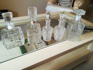 colección de botellas cristal