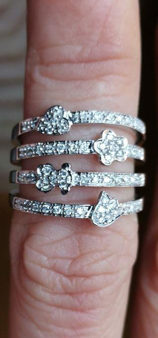 Tous oro blanco y diamantes