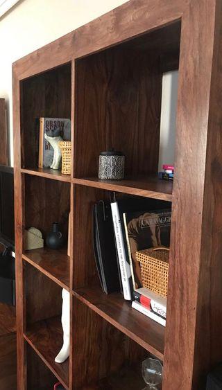 Librería en madera maciza de Palisandro
