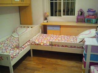 dos cama con colchones látex incluidos