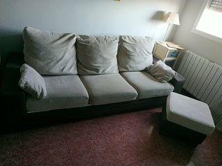 Sofá de 3 plazas +puff
