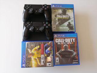 vendo PS4 pro de 1tb+2 mandos+ 3 juegos