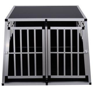 Jaula De Transporte Para Perros De Aluminio Con Ta