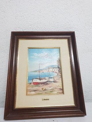 cuadro pintado a mano ideal para salón