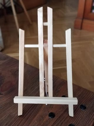Mini caballete / atril de mesa. Juego de 4