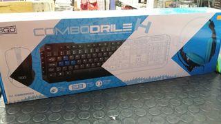 Combo teclado+ratón+auriculares