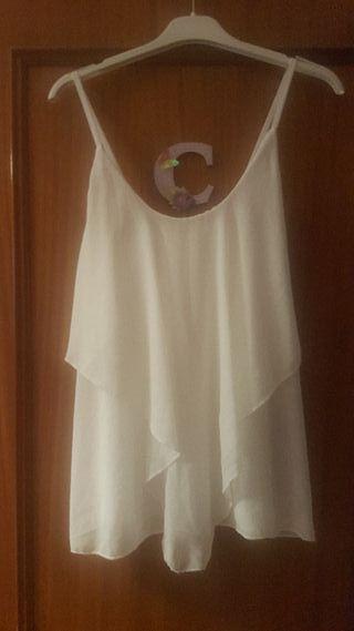 Blusa de tirantes blanca