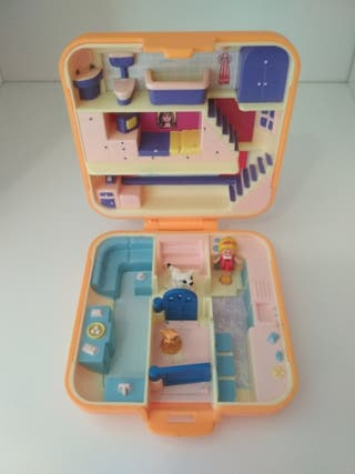 1988 Polly's Town House naranja Polly Pocket Vinta