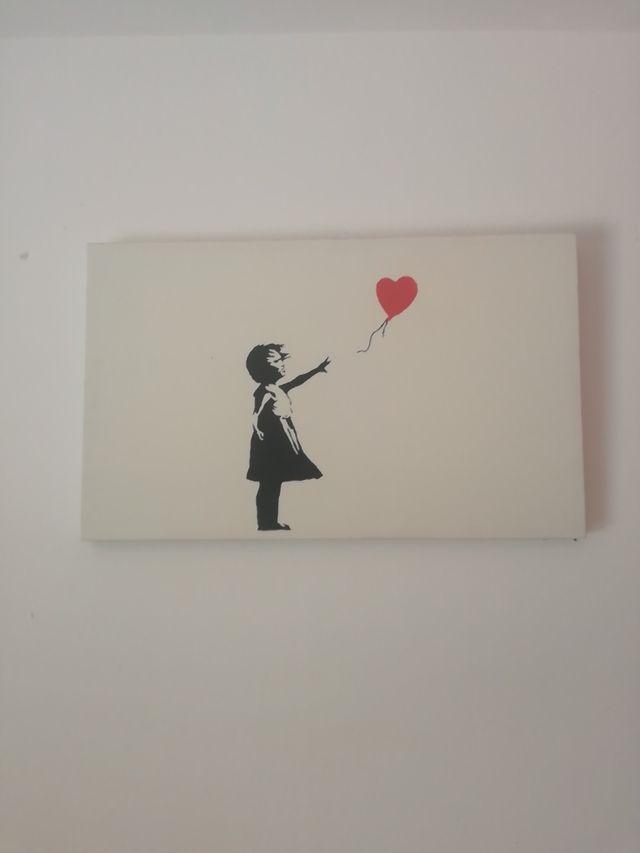 Cuadro Niña Banksy