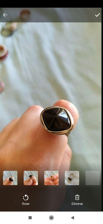 anillo pedrusco negro