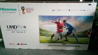 Hisense 4k 43 inch HDR UHD TV
