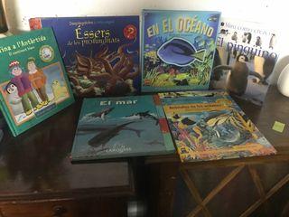 Libros infantiles sobre el oceáno y sus animales