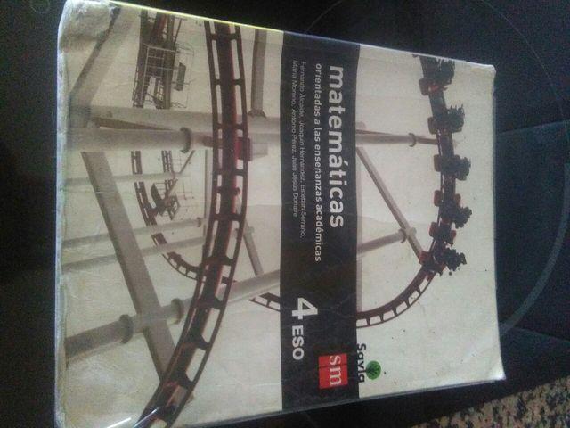 libro matemáticas de 4 ESO