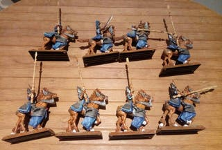 8 Yelmos plateados altos elfos Warhammer