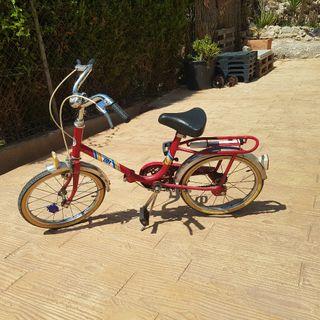 bici antigua plegable bh