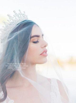 Preciosa Tiara para reina fiesta ,tiara para novia