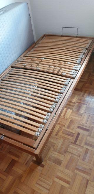 somier de madera de cerezo articulado 90x1.90
