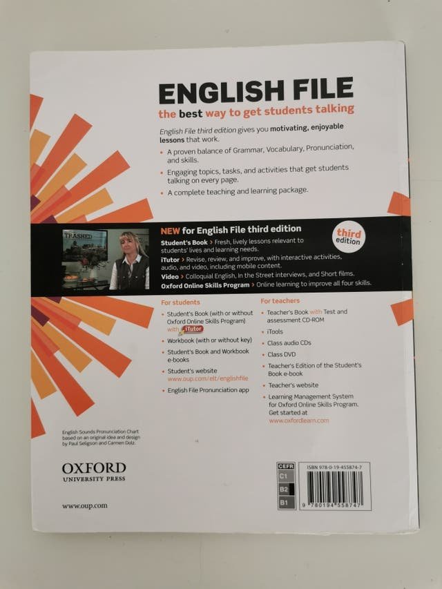 Libro inglés B2 English file (Oxford) de segunda mano por 10